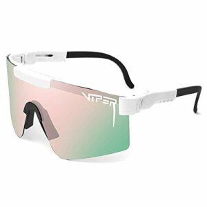 GQFGYYL-QD Pit Viper Lunettes de Soleil Cyclisme en Plein Air Course à Pied Conduite Pêche Golf Lunettes de Sport Polarisées pour Hommes et Femmes,C7