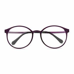 Lunettes de lecture bloquant la lumière bleue pour hommes et femmes, lunettes d'ordinateur flexibles ultra légères, anti-fatigue oculaire + 1,0 1,25 1,5 1,75 2,0 2,5 3,0 3,5 (noir rouge et violet)