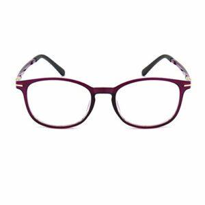 Lunettes de lecture légères, lunettes TR90 anti-lumière bleue pour les personnes âgées, lunettes de soulagement de la fatigue HD pour hommes et femmes, montures élégantes, noir, rouge et violet