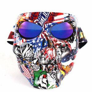 Lunettes de Ski Hommes Femmes Masque de Ski Lunettes de Snowboard Snowboard Ski-Fonds Ski Eaufelure Sport Vélo Verres Skull Ghost Motocross Feedeshield Ski Goggles (Couleur : Skull 01)