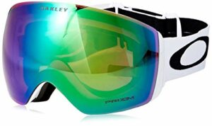 Oakley Flight Deck Masque de Ski Mixte Adulte, Matte White/Prizm Jade Iridium, 99