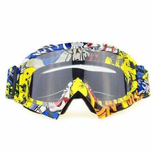 QAZEDC Lunettes De Ski Grand Masque De Ski Lunettes Ski Hommes Femmes Neige Snowboard Lunettes Anti-Sable Coupe-Vent Respirant E01C