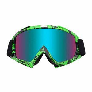 QAZEDC Lunettes De Ski Grand Masque De Ski Lunettes Ski Hommes Femmes Snow Snowboard Lunettes Anti-Sable Coupe-Vent BG