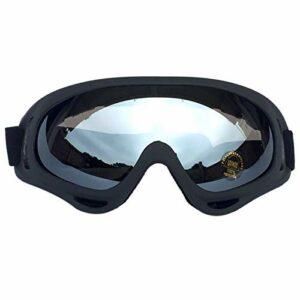 QAZEDC Lunettes De Ski Lunettes De Ski d'hiver Lunettes De Snowboard De Neige Anti-Buée Grand Masque De Ski Lunettes Protection UV pour Hommes Femmes Jeunes Noir