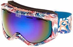 Roxy Sunset Art Series-Masque de Snow/Ski pour Femme, Bright White Bright Palm, FR Unique (Taille Fabricant : 1SZ)