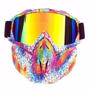 Ski Lunette Protective Goggles Ski de Ski Hiver Ski-Vent Ski Verres Motocross Sunglasses avec Masque de Visage Snowboard Snowboard Snowboard Snowmobile Goggles 16 Couleurs (Couleur : 06)
