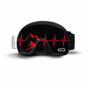 SOGGLE Heartbeat Skier 3 Housse de protection pour lunettes de ski en microfibre Taille unique
