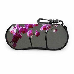 Tiffany Church Orchidées fleurs violettes unisexe étui à lunettes lunettes de soleil pochette sac lumière Portable néoprène fermeture éclair étui souple hommes lunettes étui