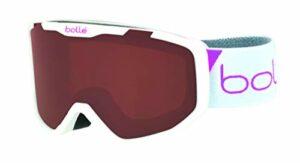 Bollé ROCKET White Race Matte / Rosy Bronze Cat.3 | Small – Masque de ski Unisexe-Enfant