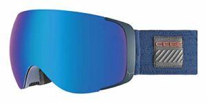 Cébé EXO OTG Masques de Ski Adulte Unisexe, Matte Navy Red/Brown Flash Blue Cat.3-Amber Flash Mirror Cat.1, Large