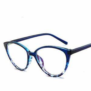 CHENGTAO Femmes Cat Eye Eye Eyeglasses Hommes Glasse Cadre Eye Verres Cadre Transparent Cadre Transparent (Frame Color : Blue)