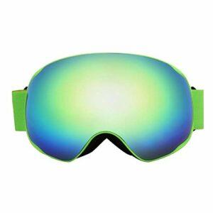DAUERHAFT Lunettes de Ski PC + TPU Meilleure Ventilation d'échappement Masque de Snowboard avec Fonction de Ventilation d'échappement, pour la randonnée(Green)