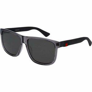 Gucci GG0010S-004 lunettes de soleil, Gris, 58.0 Femme