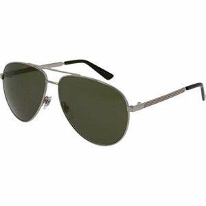 Gucci GG0137S-003 lunettes de soleil, Ruthénium, 61.0 Femme