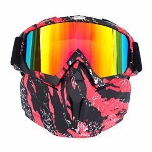 Hommes Femmes Ski Snowboard Masque Hiver Motoneige Ski Lunettes Coupe-Vent Ski Verre Motocross Lunettes De Soleil Rb