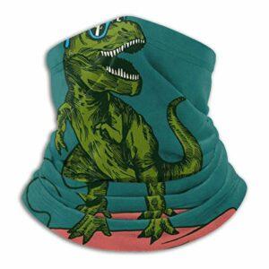 LREFON Dinosaure Surfer lunettes de soleil cou guêtre pour hommes été respirant Bandana réutilisable poussière vent sans couture Protection UV chapeaux