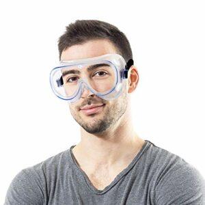 Lunettes de protection de sécurité, lunettes de sécurité, protection des yeux réglable anti-rayures, UV et éclaboussures, lunettes légères et légères pour bricolage, laboratoire et sports de plein air