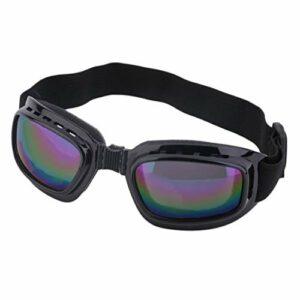 Lunettes de sécurité unisexes lunettes de protection anti-vent pliables anti-éblouissantes anti-buée lunettes de protection à sangle réglable