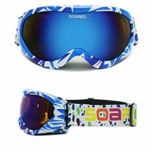 Lunettes De Ski Couleur Enfant, Double éQuipement De Ski Anti-BuéE, Lunettes De Ski Enfant