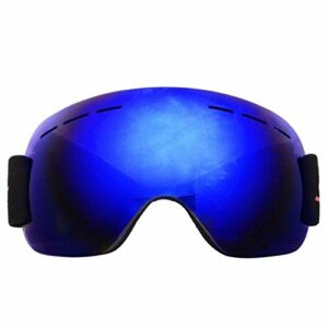 Lunettes De Ski Double Couches Anti-Brouillard Grand Masque De Ski Lunettes Ski Neige Hommes Femmes Lunettes De Snowboard Bleu