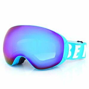 Masque De Ski Lunettes Anti-Buée Double Couches Uv400 Grandes Lunettes De Ski Ski Neige Hommes Femmes Lunettes De Snowboard 3