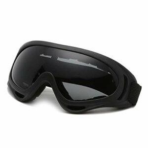 NA Lunettes de Snowboard de Ski Hommes Femmes Night Vision Ski Lunettes de Ski Hiver Verres Ski Viltiles Gafas Outdoor Uv400 Anti-Impact Snowboard Snowboard Eyewear (Couleur : Black Gray)