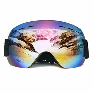 NA Lunettes de Snowboard de Ski Snowboard Ski Goggles de Ski Sport Sport Sport Verres Adultes Anti-Brouillard UV Dual Lens (Couleur : E)