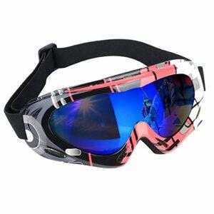 OhhGo Lunettes de Ski Lunettes de Neige de Protection UV de Protection Anti-Brouillard de Sport pour Hommes Femmes Enfants