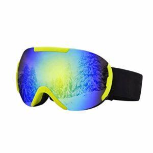 RWX Double Couche De Gros Lunettes De Ski Sphériques, Anti-Brouillard Et Lunettes De Neige, pour Lunettes De Ski pour Hommes Et Femmes (Color : Yellow)