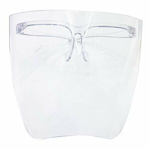 Safety Face Shields with Glasses Frames, Anti-Fog Ultra Clear Protective Full Face Shields to Protect Eyes, Nose, Mouth,UV400 Sanitary Droplet Splash Guard