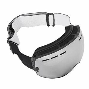SALUTUYA Lunettes de Protection Confortables pour Le Ski(Black Frame + Full Vacuum Silver Plating)