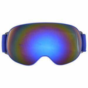 SALUTUYA Lunettes de Ski Double Couche avec Une expérience de Port Confortable pour Le Ski(Blue Frame Gray Full REVO Blue Film)