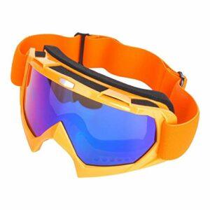 SALUTUYA Lunettes de Ski légères Anti-buée Cadre en TPU Anti-éblouissement pour Moto extérieure(Orange)