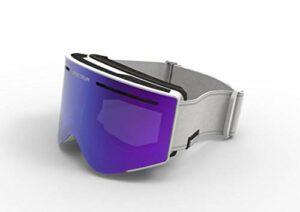 Spektrum Lunettes de Ski, Lunettes de Snowboard, Lunettes de Ski Goggles Helags Cool Gris.