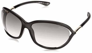Tom Ford FT0008 01D 61 Montures de lunettes, Noir (Nero Lucido/Fumo Polar), Femme