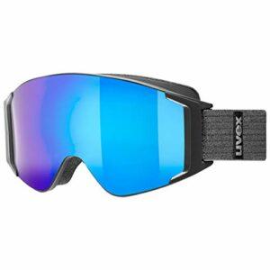 uvex g.gl 3000 TO, lunettes de ski Adulte unisexe, black mat/blue-lasergold lite, one size
