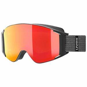 uvex g.gl 3000 TO, lunettes de ski Adulte unisexe, black mat/red-lasergold lite, one size