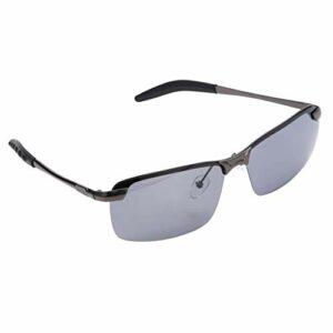 Vounivi lunettes de soleil polarisantes HD pour hommes lunettes larges d'extérieur conduite lentille anti-éblouissante résistant à l'usure soulager la fatigue visuelle