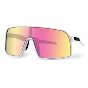 WOXING Polarisées Anti-UV Lunettes De Soleil,Fille Anti-éblouissement Classique Lunettes De Sport,Lunettes De Conduite,Sport Cyclisme Course Pêche Hommes Conduite Ski-G 13.5×5.7cm(5x2inch)