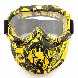 Yuzhijie Masque de ski double couche anti-buée et couleur changeante, E