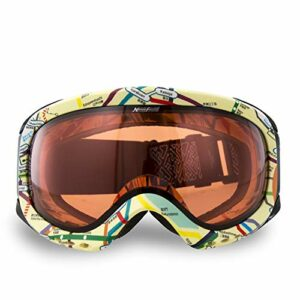 Yuzhijie Masque de ski double couche anti-buée et couleur changeante, K2