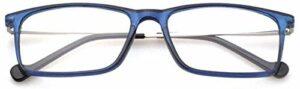 ZZAI Cadre en métal TR Lecture Lunettes Femme & Ampmen Cozy Business Optical Prescription Lunettes de Vue avec + 1.0 (Couleur : Blue, Size : +200)