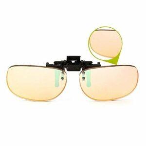 ARLT Couleur Clip Blind sur des Lunettes de Vue Hommes Verres Vert Vert Verres Correction Colorblind Driver Lunettes (Lenses Color : G407 Red)