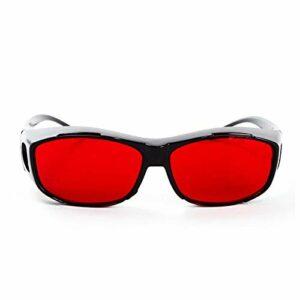 ARLT Verres Verts Rouges Verres aveugles Correctifs Hommes Femmes Couleur-cécité Verres Verres Trafic Viewas (Lenses Color : G393 Red)