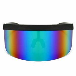 freneci 5Pcs Oversize Eyes Visière Lunettes Summer Golf Lunettes de Soleil Anti-UV Anti