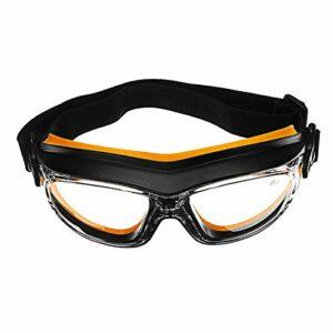 FXIXI Lunettes de protection contre la poussière, le vent, les chocs, l'acide chimique, anti-éclaboussures, protection des yeux sur le lieu de travail (Orange)