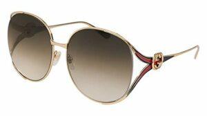 Gucci GG0225S-002 lunettes de soleil, or, 63.0 Femme