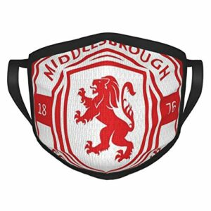hangong Middlesbrough Masque de soleil avec logo de football pour la pêche, la chasse, la course à pied, le ski