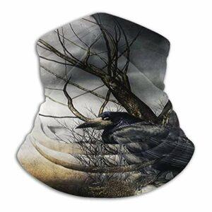hangong Raven Art Tour de cou unisexe, protection contre la poussière, masque de ski, masque respirable, masque de sport, moto, jogging, protection UV