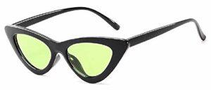 Inception Pro Infinite Lunettes de soleil femme chat – femme – vintage – papillon – rétro – femelle – fille – polarisée – mode – monture noire – uv400 – verres verts – idée cadeau originale